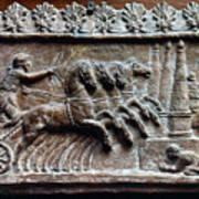 Roman Relief: Chariot Race Art Print