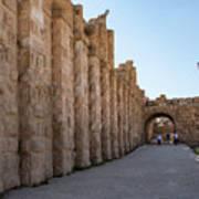 Roman Ruins At Jerash, Jordan  Art Print