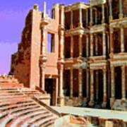 Roman Ruins At Sabrayha Art Print