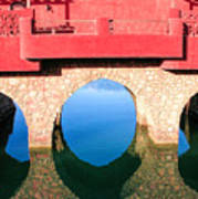 Roman Style Bridge On Red Sea Art Print