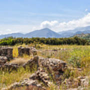 Roman Villa Ruins At Makry Gialos Art Print