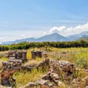 Roman Villa Ruins On Crete Art Print
