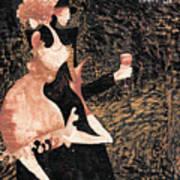 Romance De Paris Art Print