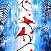 Romance In The Snow Art Print