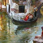 Romance in Venice 2 Art Print