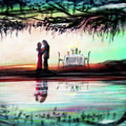 Romance Under The Oaks Art Print