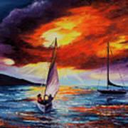 Romancing The Sail Art Print