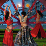 Romani Dance Art Print
