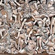 Romans And Barbarians Art Print