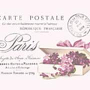 Romantic French Victorian Postcard Art Print