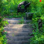 Romantic Garden Scene Print by Teresa Mucha