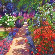 Romantic Garden Walk Print by David Lloyd Glover
