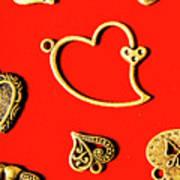 Romantic Heart Decorations Art Print