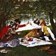 Romantic Picnic 1873 Art Print