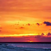 Romantic Sunset at the Cuban Beach Art Print