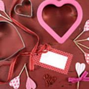 Romantic Theme Cookie Cutters Art Print
