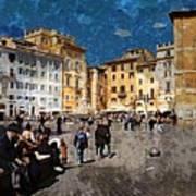 Rome - Piazza Della Rotunda Art Print by Jen White