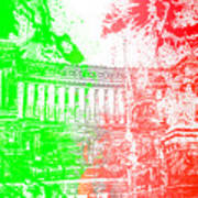 Rome - Altar Of The Fatherland Colorsplash Art Print