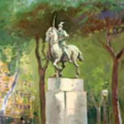Rome Piazza Albania Art Print
