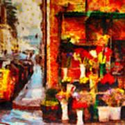Rome Street Colors Art Print