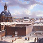 Rome Under The Snow Art Print