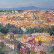 Rome View From Gianicolo Art Print