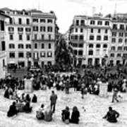 Rome View From The Spanish Steps Art Print