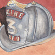 Rondo's Fire Helmet Art Print by Ken Powers