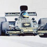 Ronnie Peterson - Lotus 76 Art Print