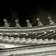 Roof National Palace Museum Taiwan City - Taipei  Art Print