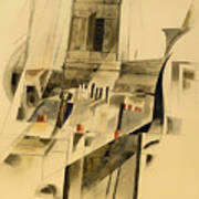 Roofs And Steeple Art Print