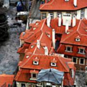 Roofs In Prague Art Print by John Rizzuto