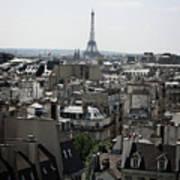Roofs Of Paris. France Art Print by Bernard Jaubert