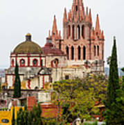 Rooftop View Of La Parroquia De San Miguel Arcangel Art Print by Rob Huntley