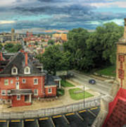Rooftop View_pano Art Print