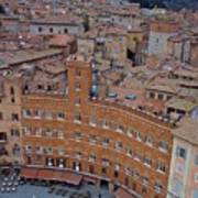 Rooftops And Cafes Of Il Campo Art Print