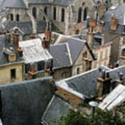 Rooftops Of Blois In France 3 Art Print