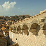 Rooftops Of Dubrovnik  Art Print