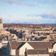 Rooftops Of Elgin Art Print