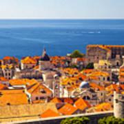 Rooftops Of Old Town Dubrovnik Art Print