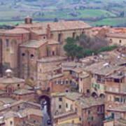 Rooftops Of Siena 2 Art Print