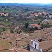 Rooftops Of Siena Art Print