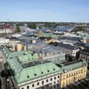 Rooftops Of Stockholm Art Print