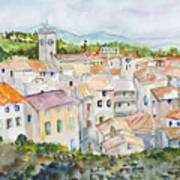 Rooftops Of Viviers Art Print