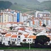 Rooftops Of Ponta Delgada Art Print