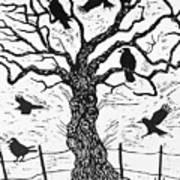 Rook Tree Art Print
