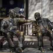 Roosevelt And Churchill Statue Art Print