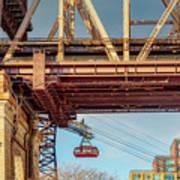 Roosevelt Tram Underneath The 59 St Bridge Art Print