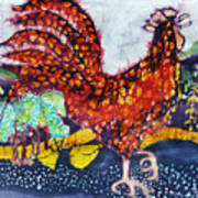 Rooster In The Morning Print by Carol  Law Conklin