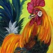 Rooster Kary Art Print by Summer Celeste